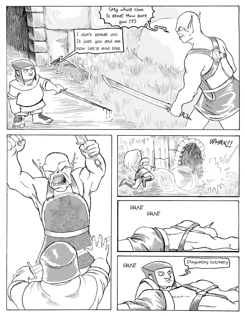 The Fight in Front of the Cave, Final Page